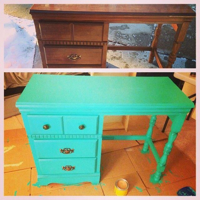 #Upcycled furniture! Furniture redo! #makeover repurposed furniture