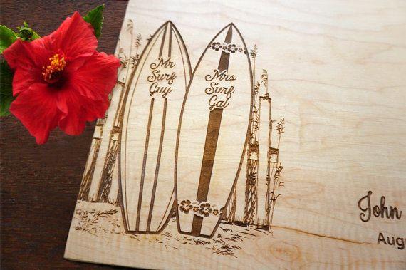 Personalized Surfboard Cutting Board Surf Decor Coastal Wedding Present Bridal Shower Gift Anniversary Surf Rider Gift Beach Kitchen Decor