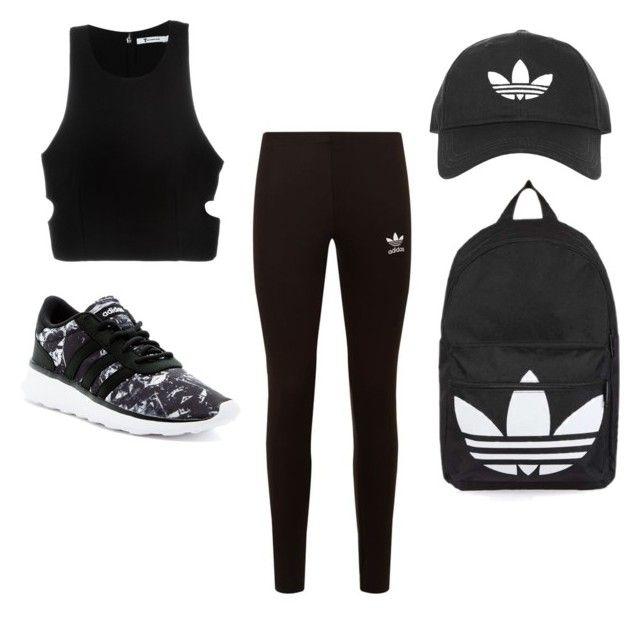 """Adidas for life"" by simranbasi12 on Polyvore featuring T By Alexander Wang, adidas Originals, Topshop and adidas"