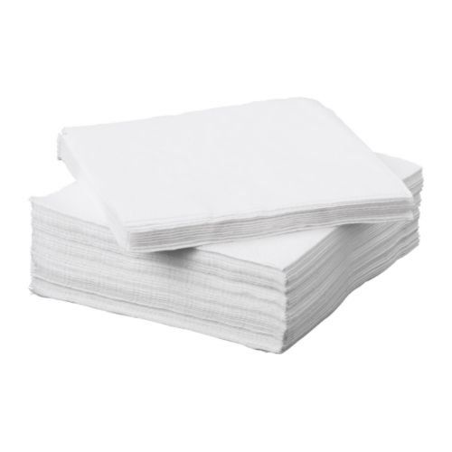 FANTASTISK 100 Pack Highly Absorbent White Paper Napkin Ikea http://www.amazon.co.uk/dp/B00HIRY7IY/ref=cm_sw_r_pi_dp_TxTgwb15QHT1N