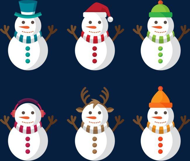 Boneco De Neve De Natal Engracado Dos Desenhos Animados Natal Do