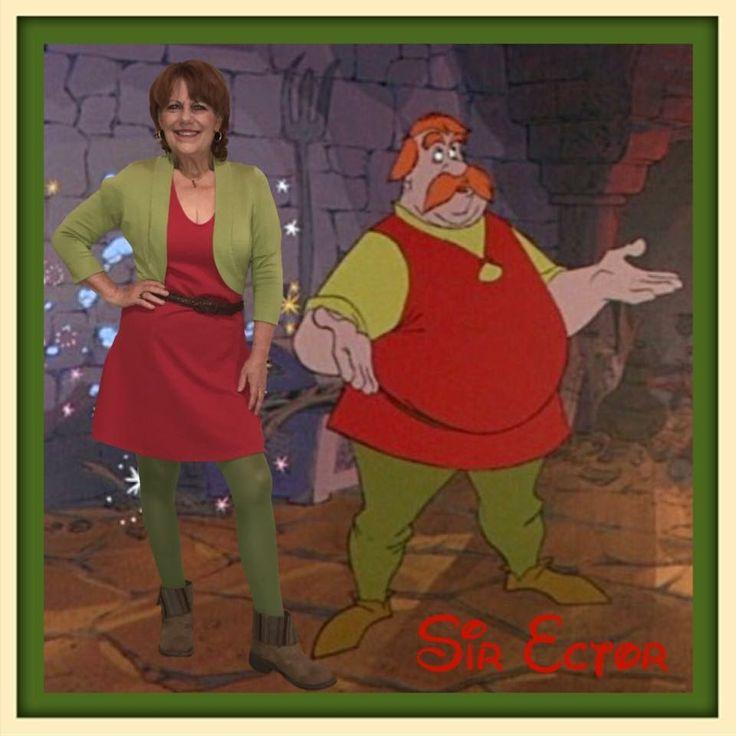 Sir Ector, Sir Ector Disneybound, The Sword in the Stone, Red Disneybound, The Sword in the Stone Disneybound