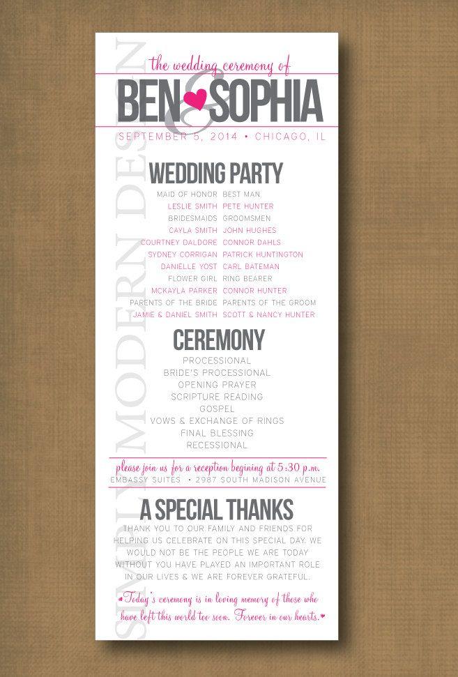 25+ melhores ideias de Amostras do programa do casamento no - wedding agenda sample