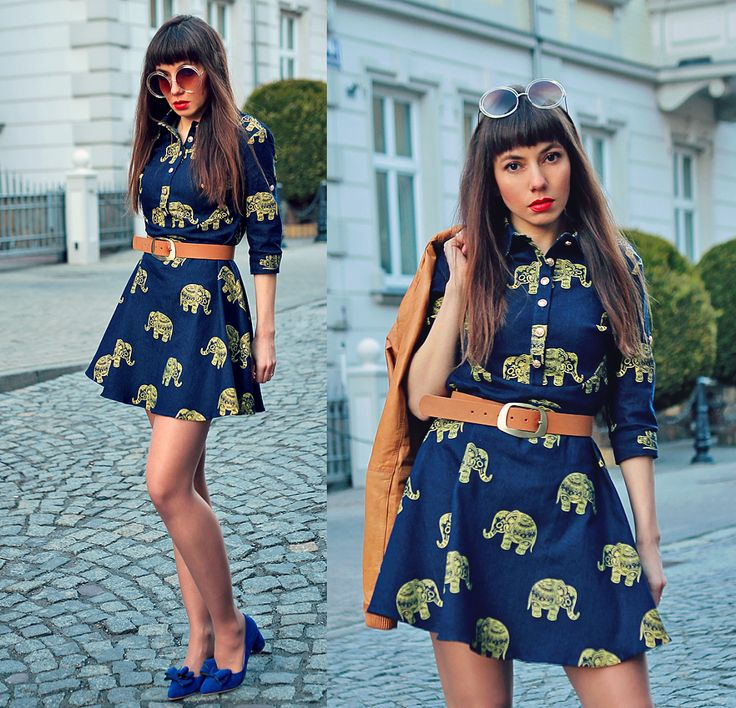 elephant printed denim shirt dress: http://jointyicroissanty.blogspot.com/2017/04/elephant-print-dress.html