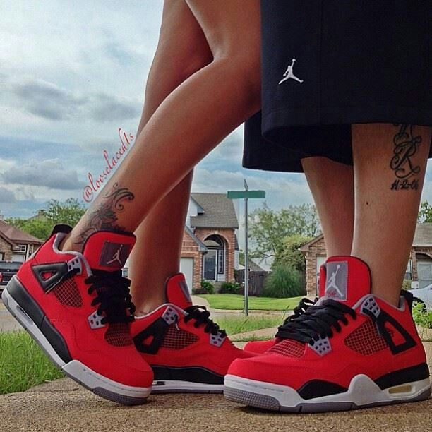 Nike. See More. His and hers red sneakers
