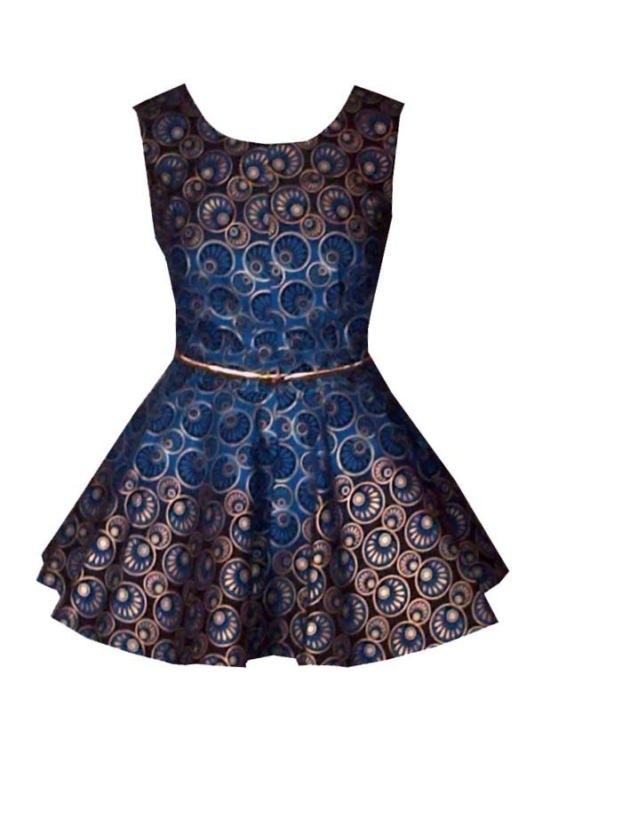 Great print and style. Could be worn over form fitted pencil skirt an alternate print