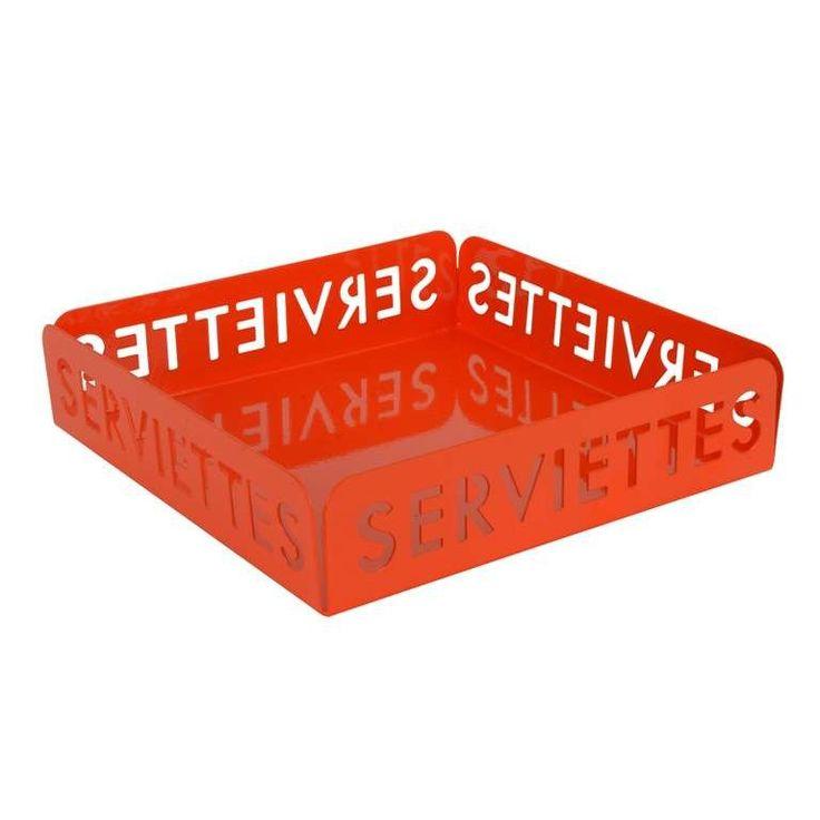 Orange Metal SERVIETTES Napkin Holder