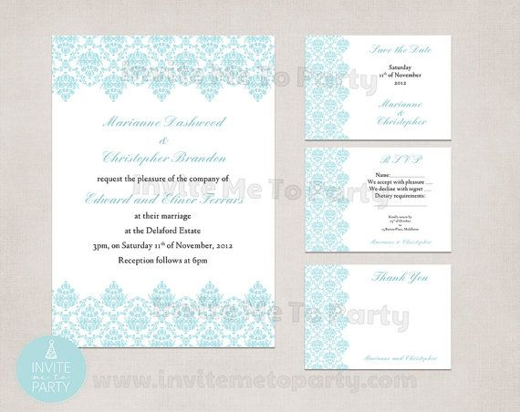 Jacquard Wedding Invitation Collection / Choose by InviteMe2Party