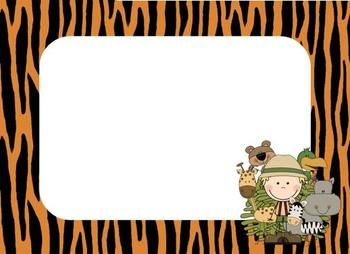 FREE Use these cute jungle theme name tags to label cubbies, coat racks, or to use as name tags on the first day.