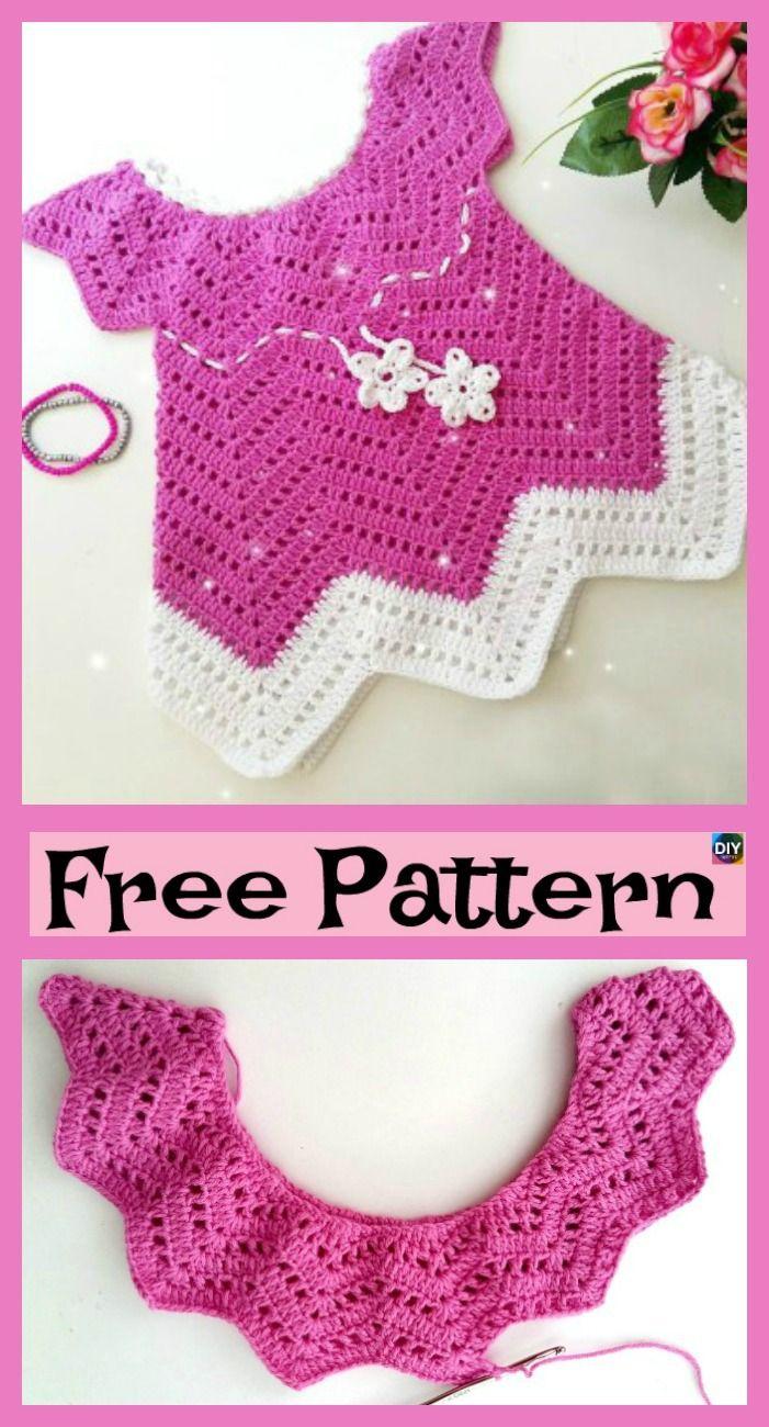 Hübsches gehäkeltes Baby Blossom Kleid – kostenlose Anleitung   – Crochet Baby Projects