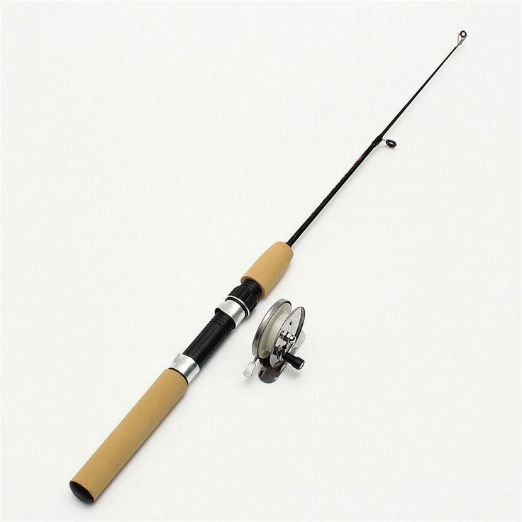 Venta caliente de la Nueva Llegada 0.5 M Mini Telescópica caña de Pescar de Carbono Polo Tackle Herramienta de Pesca de Invierno de Hielo Ultra-ligero 40g