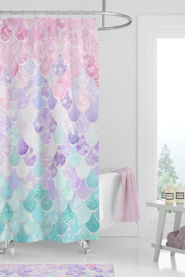 Fun Bathroom Decor Beautiful Shower Curtains For Girls Pretty Bathroom Decor In 2020 Girl Bathroom Decor Girls Shower Curtain Kids Bathroom Shower Curtain