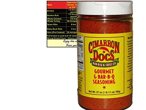 The choice of champions. Through a unique blend of garlic and spices Cimarron Doc's Gourmet and Bar-B-Q Seasoning is perfect for your pork and best for your brisket. It is a great all-purpose rub for all cuts of meat.