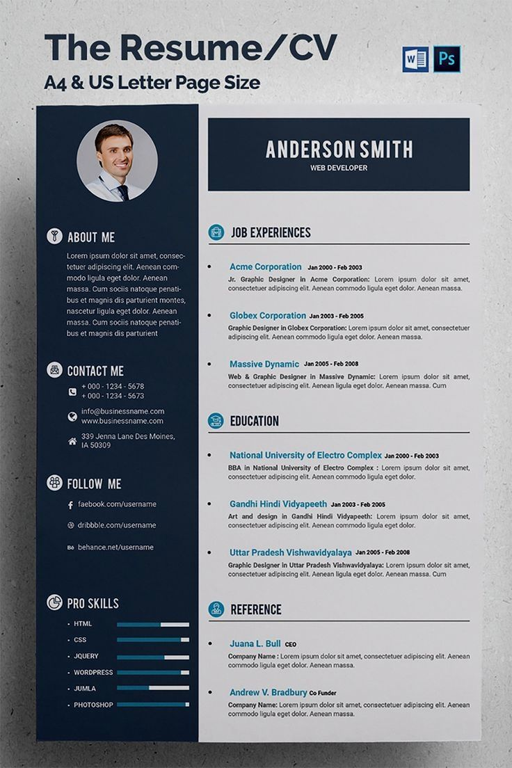 This Is The Resume Cv Template Elegant Page Designs Are Easy To Use And Customize The Resume Cv A4 Us Modele De Cv Creatif Telecharger Cv Gratuit Modele Cv