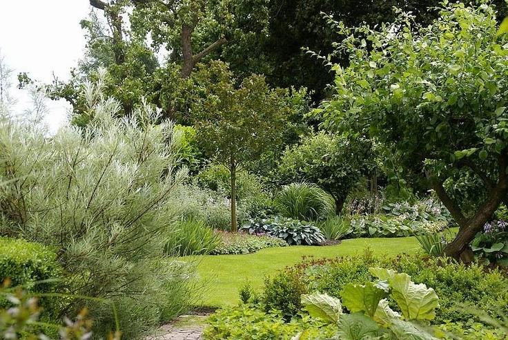 weelderige tuin