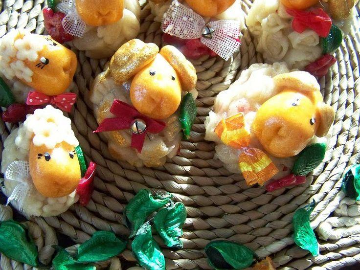 ANIOŁOWO MASA SOLNA: Wielkanocne baranki z masy solnej