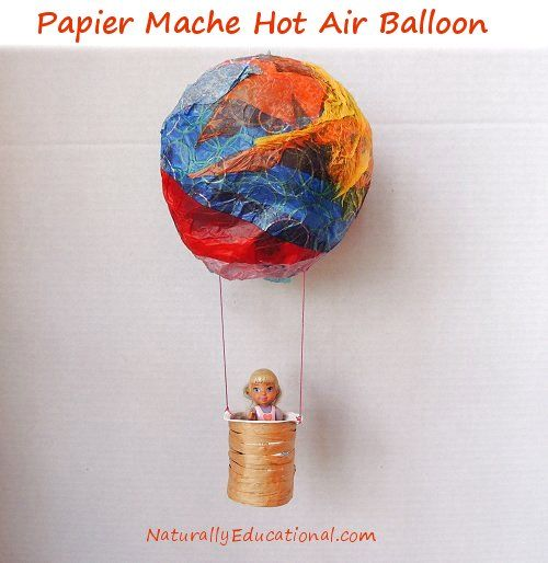 Best 25 hot air balloon craft for kids ideas on pinterest for Best way to paper mache a balloon