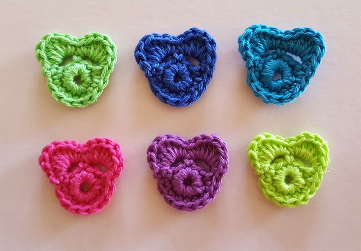 Lot de 6 appliques oursons multicolores au crochet : Autres pièces pour créations par atelier-crochet
