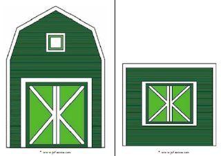 * Boerderij sjabloon ook in zwart - wit, vele activiteiten rondom de boerderij
