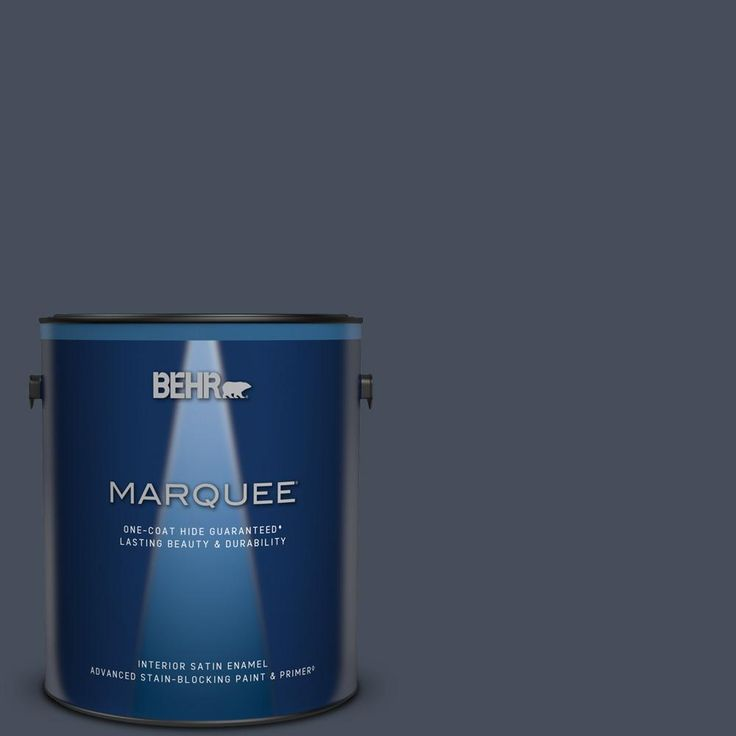 Behr Marquee 1 Gal Mq5 10 Secret Society One Coat Hide Satin Enamel Interior Paint Primer 745301 The Home Depot Behr Marquee Behr Marquee Paint Exterior Paint