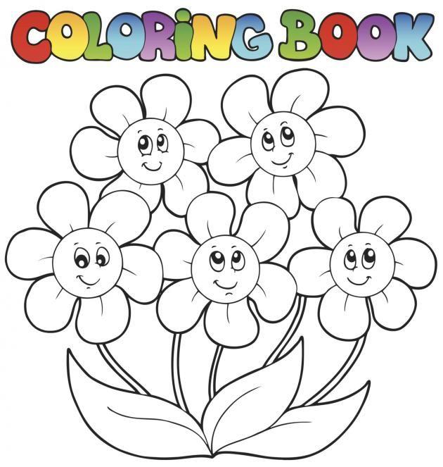 Para todas las chicas o chicos que les atraiga las flores aquí les brindamos una cantidad de dibujos de flores para colorear, imprime y pinta con los mejores colores!  Flores con jarrón  Flores  Mariposa en flores
