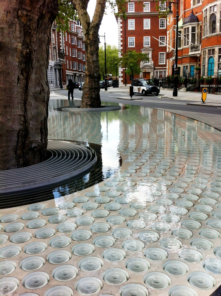 'Silence' water feature by architect Tadao Ando in Mount Street, Mayfair, London. Visit the slowottawa.ca boards >> https://www.pinterest.com/slowottawa/boards