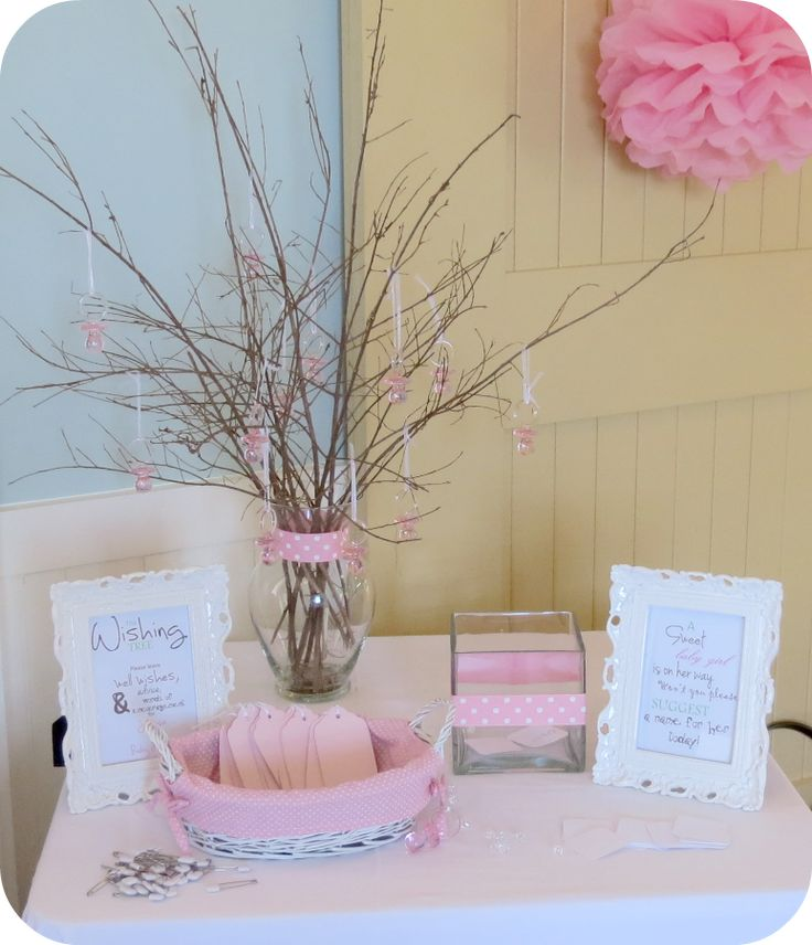Sweet Beginnings Baby shower wishing tree