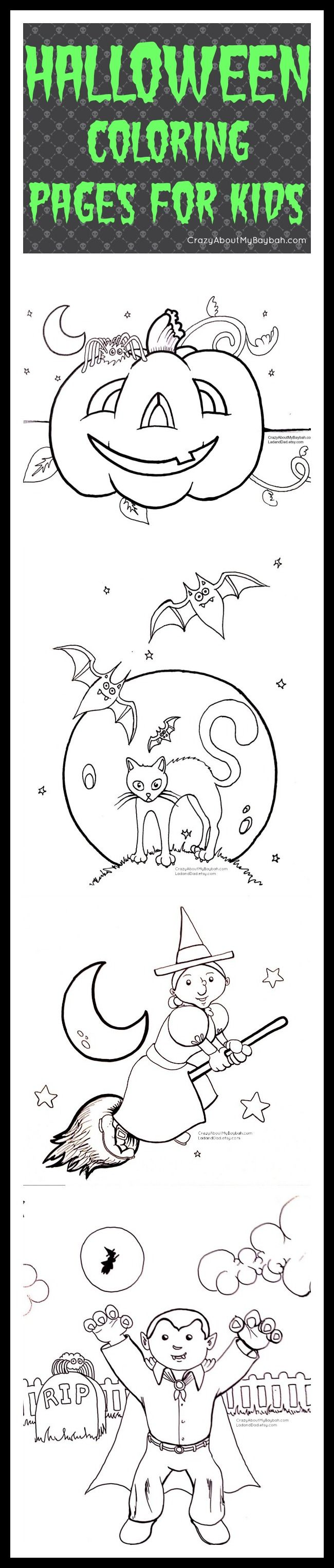 Free Printable Halloween Coloring Pages for Kids #Printables