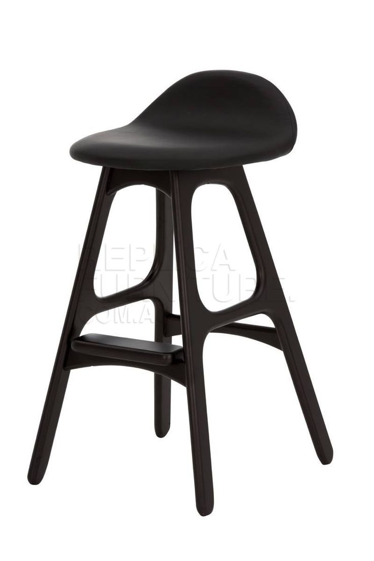 The Black Erik Buch bar stool replica is an impressive and stylish Danish  kitchen stool. Ideal for kitchen benches made with black marble or darker  colours, ...