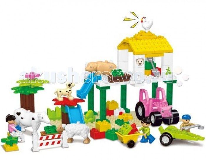 Конструктор Dr.Luck для маленьких Веселая ферма (77 деталей)  Конструктор Dr.Luck для маленьких Веселая ферма (77 деталей) станет отличным решением для активных и любознательных малышей. Универсальная игрушка понравится всем без исключения, ведь каждый раз можно сконструировать что-то новое и необычное.   В большой картонной коробке вы сможете найти детали самых разнообразных форм и цветов, из которых можно собрать целый ферму со специальной техникой и животными. Входящие в комплект…