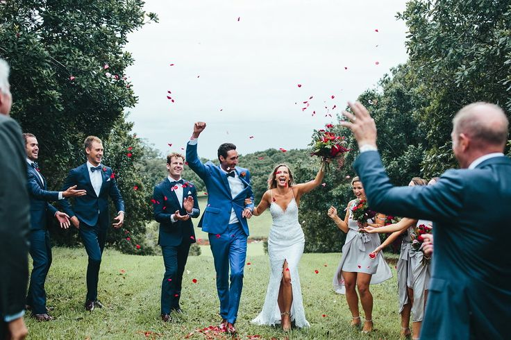 Tim & Tegan celebrating those Married Couple feels with their VIP's in paradise. Pic - Ivy Road Photography / Flowers - The French Petal / Beauty - Alex Ouston Beauty / Planning - Creative Weddings Byron Bay