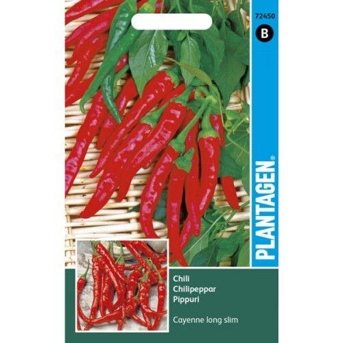 Chilipeppar - Cayenne long slim