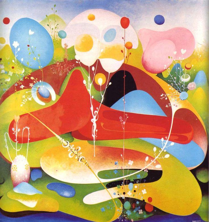 VANGEL NAUMOVSKI. Green Oasis. 1968.