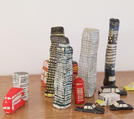 Illustrator Laura Carlin's ceramic city.