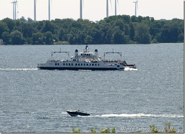 the Wolfe Island ferry leaves from downtown Kingston!