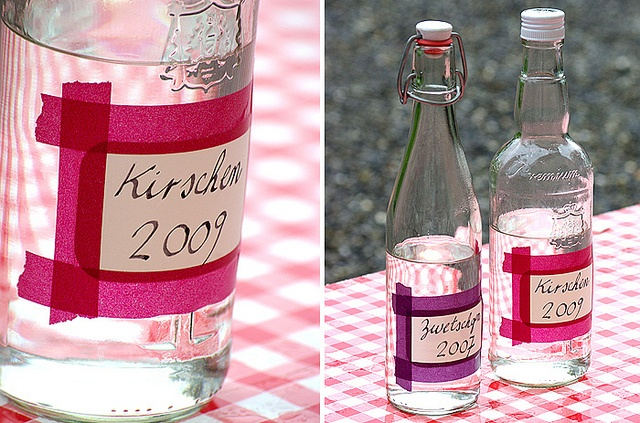 washi tape bottles
