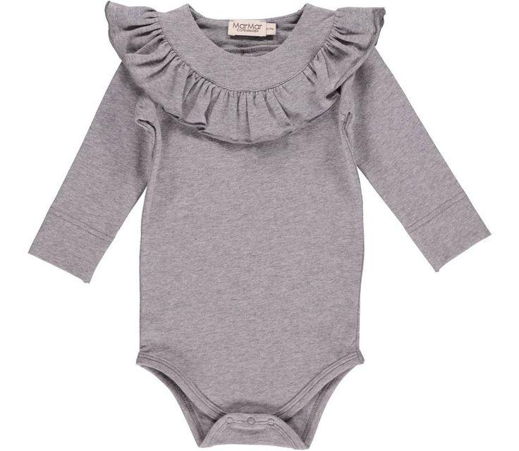 Bibbi Jersey - Grey Melange - Bodyer - Baby