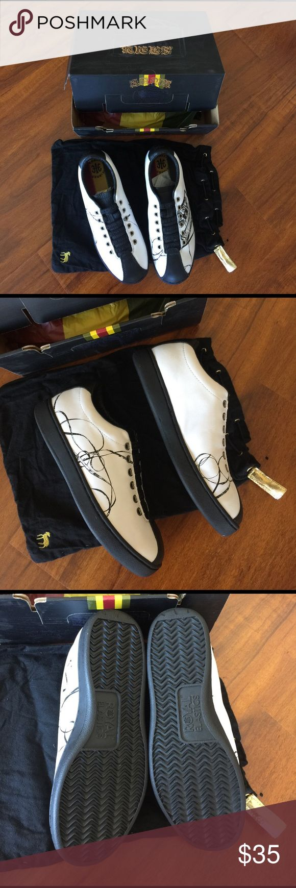 New L.A.M.B royal elastics white women sneaker uk 6.5 us 8.5 women sneaker white royal elastics music new in the box with dust bag L.A.M.B. Shoes Sneakers