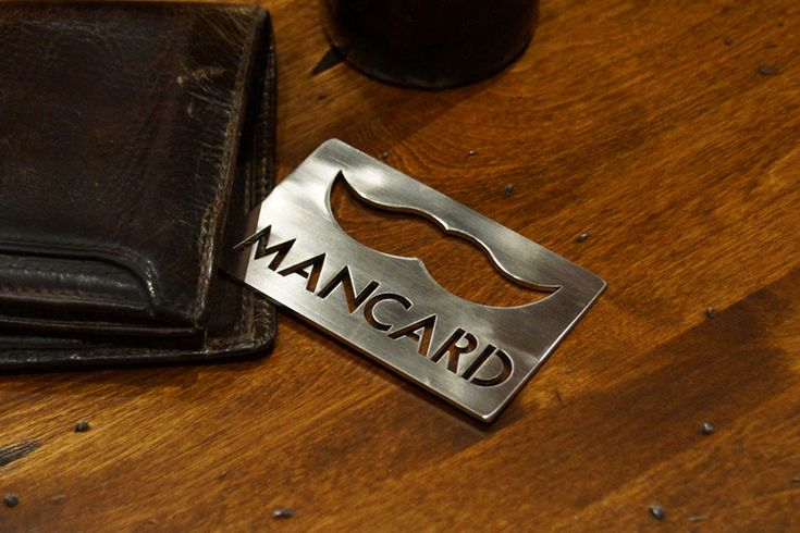 The perfect gift for any man, a Man Card! It is made from 16 GA Stainless Steel, so it is very strong. Other features included are that it will keep your credit cards from warping while in your wallet, it is very affordable, and it has a mustache. And the kicker? The mustache is a bottle opener!