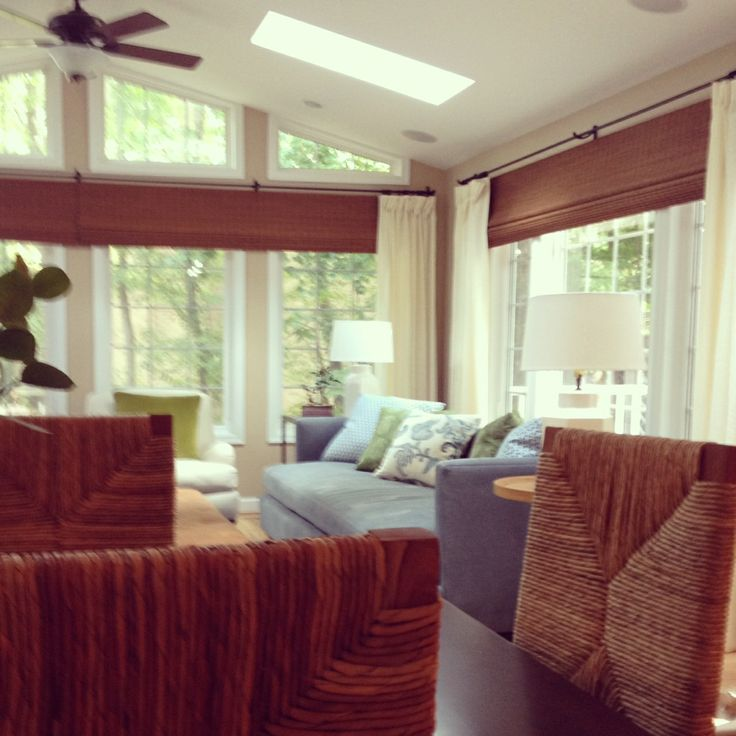 Family Room Additions: After The Window Treatments Are Done. The Matchstick