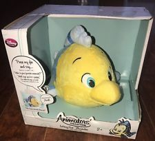 Disney Store Animators' Collection Interactive Flounder Plush New with Box