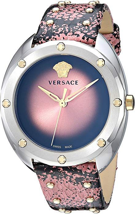 9cf0d4597f6 Versace Women s  SHADOV  Quartz Stainless Steel and Snake Skin Watch ...