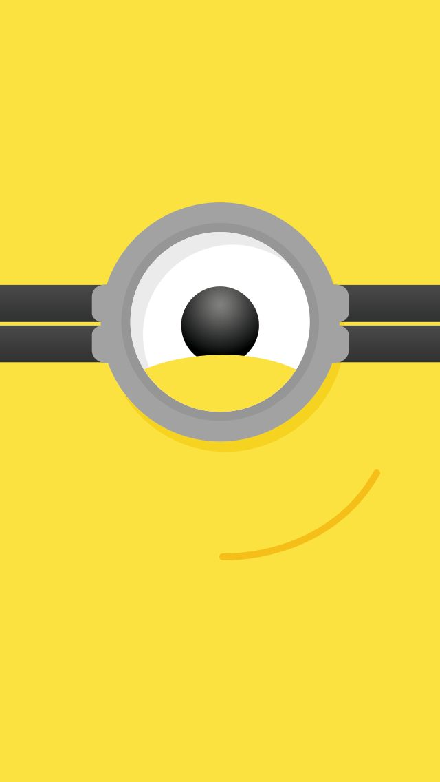 Tap image for more funny minion iPhone wallpaper! Despicable Me Minion face - @mobile9 | Wallpapers for iPhone 5/5S, iPhone 6 & 6 Plus