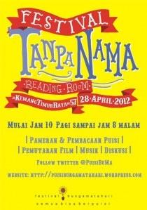 Festival Tanpa Nama, Reading Room, 28 April 2012