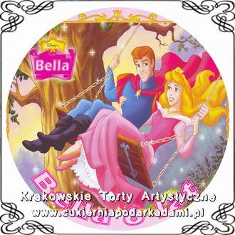 034. Tort z księżniczką Disneya. Disney princess Aurora photocake.