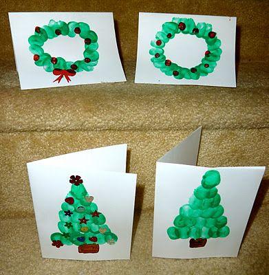 Christmas Craft: Fingerprint Homemade Cards | hands on : as we grow