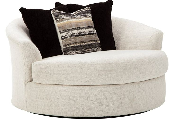 Cambri oversized round swivel chair by ashley furniture at