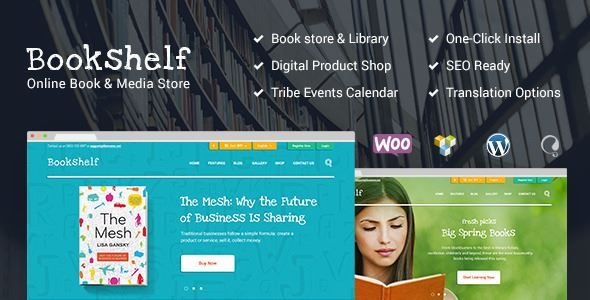ThemeForest - BookShelf | Books & Media Online Store  Free Download