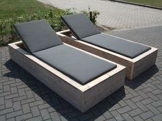 Mooie lounge tuinstoelen van steigerhout! Door Janneke1987