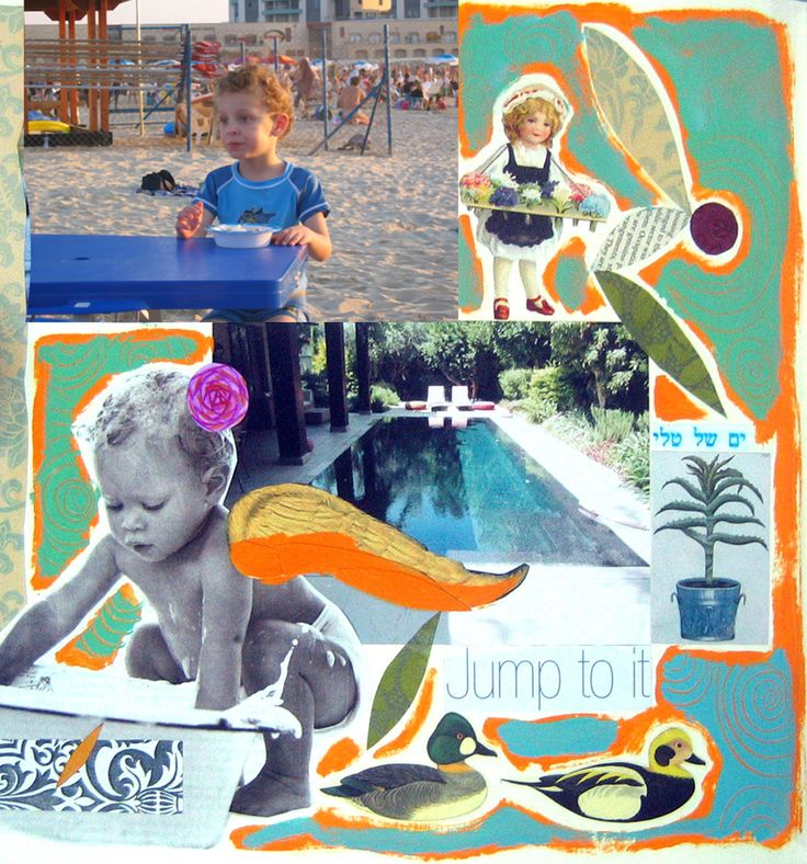 Family collage. Scrapbooking is fun! Order at: nomimo@gmail.com